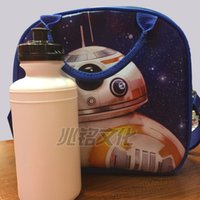 best water bottle for kids - Best Price Star Wars The Force Awakens Insulated Lunch Bag Child School Bags Fashion Star War Handbags for Kids with Water Bottle L0132