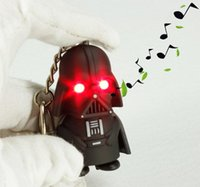 Wholesale Mini LED Flashlight keychain Darth Vader star war Anakin Skywalker figure Star Wars Darth Vader Keychains Accessories keychains