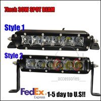 Wholesale 2x7Inch Cree W Spot Beam Work Driving LED Fog Light Lamp Bar Offroad save W order lt no track