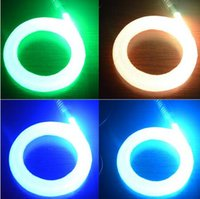 Wholesale 0 mm Meters end glow fiber optic cable plastic optical fiber fibra optica fiber optic light strands