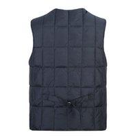 Wholesale Fall Winter Fall Casual Plus Size Men s Thick Warm Down Cotton Vest Coat Male XL XXXL Waistcoat Autumn Vests Coats For Man