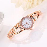 Wholesale Women fashion New Elegant Princess Ladies Quartz Analog Bracelet Wrist Watch with Rhinestones Decor for Women H6643 W0 SYSR