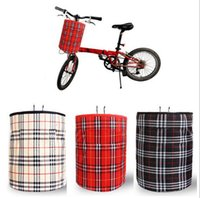 folding bicycle folding a-bike - front tube bag for a bicycle bike basket waterproof nylon bag for folding bike plaid bicycle basket accessorios para bicicletas