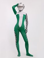 Wholesale sexy catsuits racing driver Girl zentai suits cool Lycra Spandex Multicolor hallowenn costumes