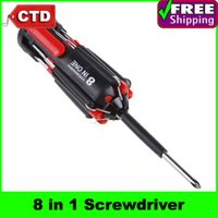 Wholesale 8 in Screwdriver Tool Set with LED Torch Light Multi Screwdriver Torch
