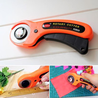Wholesale Orange rotary cutter mm diameter Patchwork cutter tool for easy cutting fabric needlewrok tool crafts tool EC059
