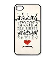 Carta al por mayor del corazón rojo de diseño de plástico duro móvil teléfono Funda para el iPhone 4 4S 5S 5 6 5C