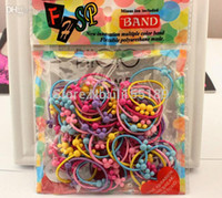 baby hair rubber bands - bag New Fashion Summer Cartoon Hair Elastics Rubber Bands Baby Child Girls Heart Mickey Normal Hair Holders Tie
