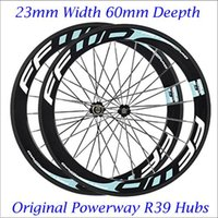 Wholesale Popular Full Carbon Fiber Wheelset Clincher Tubular mm C FFWD F6R Bicycle Wheels Carbon Rims Powerway R39 Hubs