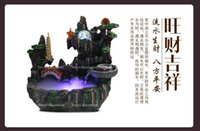 antique water fountains - resin water fountain ornaments artificial landscape fengshui craft indoor air humidity gifts home decoration