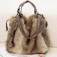Wholesale 2015 Hot Sale Women s Handbag Faux Fur Bags Velvet Shoulder Cross Body Bags Tcesoho MB001