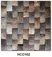 Wholesale coconut shell mosaic tile panel