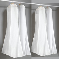 Wholesale Wedding Dress Gown Bags White Dust Bag Travel Storage Dust Covers Bridal Accessories For Brid Garment Cover Travel Storage Dust Covers