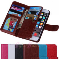iphone 5 flip case - For iphone i6 s Plus Multifunctional Flip Wallet Leather Case Cover With Magnetic Detachable Photo Frame Card Slot iphone6 Plus