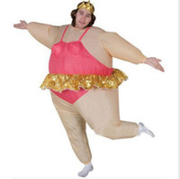 adult ballerina halloween costumes - ballerina Inflatable Mascot Costume Adult Fancy Dress Suit Party Halloween Christmas Xmas gift