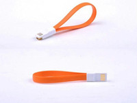 Wholesale 22CM Magnet Flat Short Pin Micro USB Data Charger Cable Cord For Andorid Samsung HTC Retail