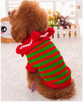 clothing dog - 2015 New Santa Dog Coats Sweaters Christmas Pet Clothes Winter Coat Clothes for Dog Sweater Pet clothing Pets Supplies Dog Clothes m00709