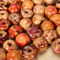 Wholesale 100pcs mm Mixed Wood Round Beads Jewelry Making Loose Spacer Charms Findings P94