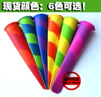 popsicle stick - Silicone Popsicle Molds Ice Pop Molds Pop Mould Ice Tray Stick Colorful Ice Cream Jello Ice Cream Tubs