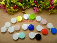 Wholesale DHL Fedex Newest Cute Series Plastic Contact Lenses Box Case Contact lens Case Promotional Gift