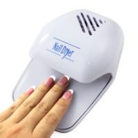 Wholesale Sanwony new arrivel Fashion Portable Hand Finger Toe Nail Art Polish Paints Dryer Blower Mini Tool Nail Dryer UV Curing Lamp Drop Ship