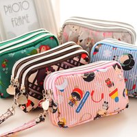 bag category - Large capacity female zipper purse phone package short paragraph Ms wallet card pack hand bag three Category