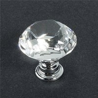 Wholesale 1pcs mm Clear Crystal Diamond Glass Door Pull Drawer Cabinet Furniture Handle Knob Screw Hot Search You deserve it