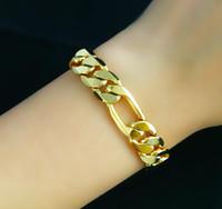 Wholesale Fast Fine Mens jewelry MASSIVE quot k GOLD MEN BRACELET DOUBLE CURB CHAIN MM WIDE