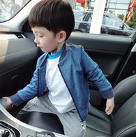 age cardigans - Kids Baseball Clothes Autumn Hot Sale Fashion Style Boys Denim Coat Comfortable Short Style Children Cardigan Fit Age T1783