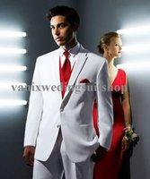 Cheap 2015Modern Groom Tuxedos For Men Formal Suit shawl laple Wedding Groomsman white Suit Bridegroom Dress (Jacket+Pant+vest+tie)Free Shiping