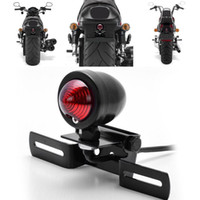 Wholesale Motorcycle Black Metal Brake Stop Plate Mount Tail Light For Harley Chopper Bobber