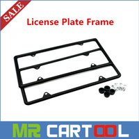 Wholesale New xBlack Stainless Steel License Plate Frame Tag Cover Screw Caps for US Car