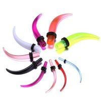 Cheap Fashion UV Acrylic Ear Stretching Tapers Expander Plugs Tunnel Body Piercing Jewelry Kit Gauges Bulk 1.6-11mm Earring Promotional Hot Sale