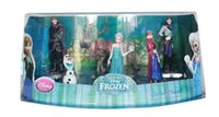 action plays - Movie Frozen Piece Figurine Playset Action Figure Play Set Anna Elsa Hans Kristoff Sven Olaf Kids with Gift Box