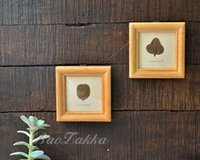 small picture frame - 2pcs Home wall photos square logs of wooden photo frame home decoration small picture frames wall design foto simple wedding