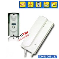 Wholesale 2 Wire Connection Doorphone Kits With Unlocking Function Talking Distance is Above m