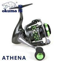 athena lighting - Okuma Brand Athena Light Spool Fishing Spinning Reel for Carp Fishing Super Light weight Fishing Gear AT MS AT MS
