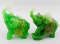 Cheap Ceramics Crafts Best Plait Green ornaments elephant