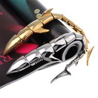 polished rocks - Men s Individual Shark Bracelet L Titanium Steel Polished Fashional Ornaments Punk Rock Style J0663