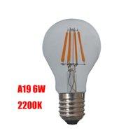e26 led bulbs - 2200K CCT A19 LED filament bulb Replacement Edison Vintage light bulbs E26 base V V Dimmable LED filament bulbs degree