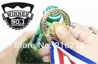 beer olympics - 2012 London Olympic Specially Design NO Gold Medal Bottle Opener Ring Beer Bottle Opener