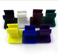 Wholesale colorful car e cigarette holder for electronic cigarette battery e cigarette stand holder acrylic display stands with sticky bottom
