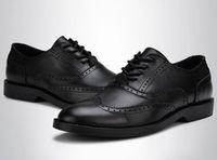 Cheap British style Brand Classic men's Oxfords shoes mens Dress Business shoes flats 100% genuine leather shoes british style shoes