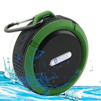 army speaker - Wireless Bluetooth Waterproof Outdoor Shower Speaker W Speaker Suction Cup Mic Hands Free Speakerphone Army Green Blue Red S03
