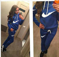 Wholesale Brand New Stylish Ladies Tracksuits Sport Suit Two Pieces casual Sweater Hoodie zipper Sweater suit