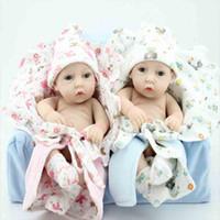 silicone baby dolls - 28cm Reborn Baby Doll Silicone Reborn Baby Toys Lifelike Newborn Toys Best Gift for Children