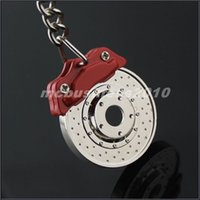 Wholesale Creative Hot Sale Disc Brake Shape Auto Parts Model Keychaindisc brake keychain Key Chain Ring Key Fob Keyring