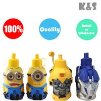 Wholesale Retail or D Transformers kettle Bumblebee shape stainless Steel Vacuum Insulated Thermos Bottle ml Drink cups