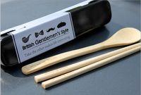 Wholesale hot sale of bamboo tableware environmental protection tableware suit chopsticks spoon set sale