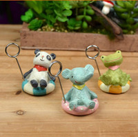 Wholesale New Cute Summer Style Resin Crafts Small Animals Creative Notes Message Folders Photo Clip Home Ornaments Photography Props